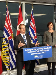 B.C. consults on land-based spill plan