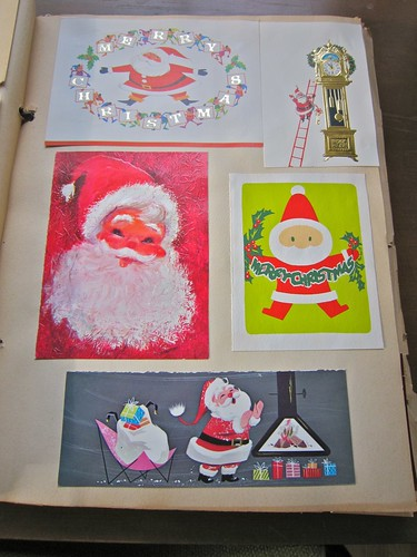 Vintage Christmas Cards Scrapbook 1 / 6