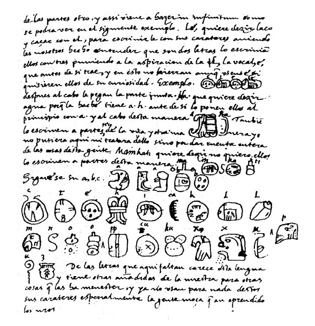 Diego de Landa manuscript on the ancient Maya