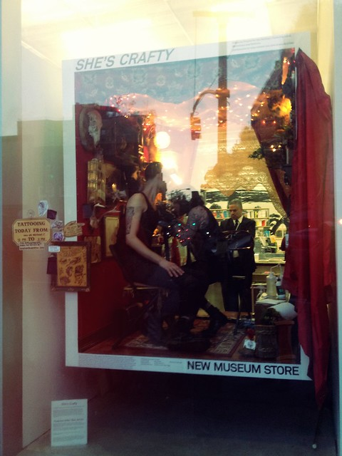 16.42: New Museum window display :: pop-up tattoo studio
