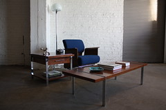 ***SNEAK PEEK*** Blinged Out Rare Mid Century Modern Lane Walnut and Chrome Coffee &...</p></a>                        							<div class=