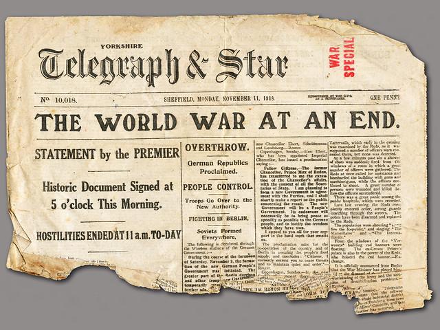 WWI Armistice Headlines