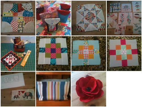 November 2012 Fresh Sewing Day mosaic