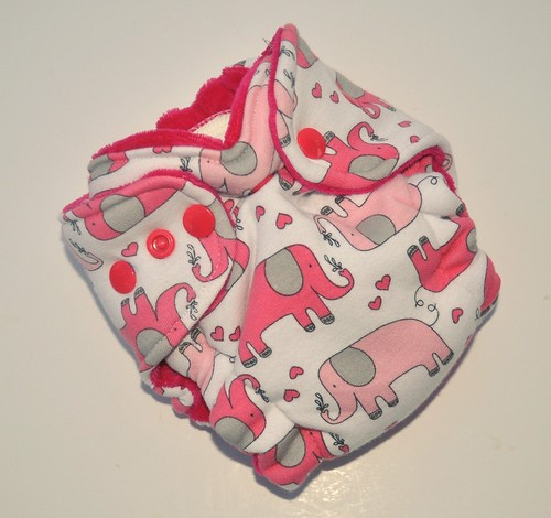 Bumstoppers Newborn Elephants Hybird Fitted **New Style**