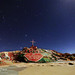 Salvation Mountain at night by EDgY JraE