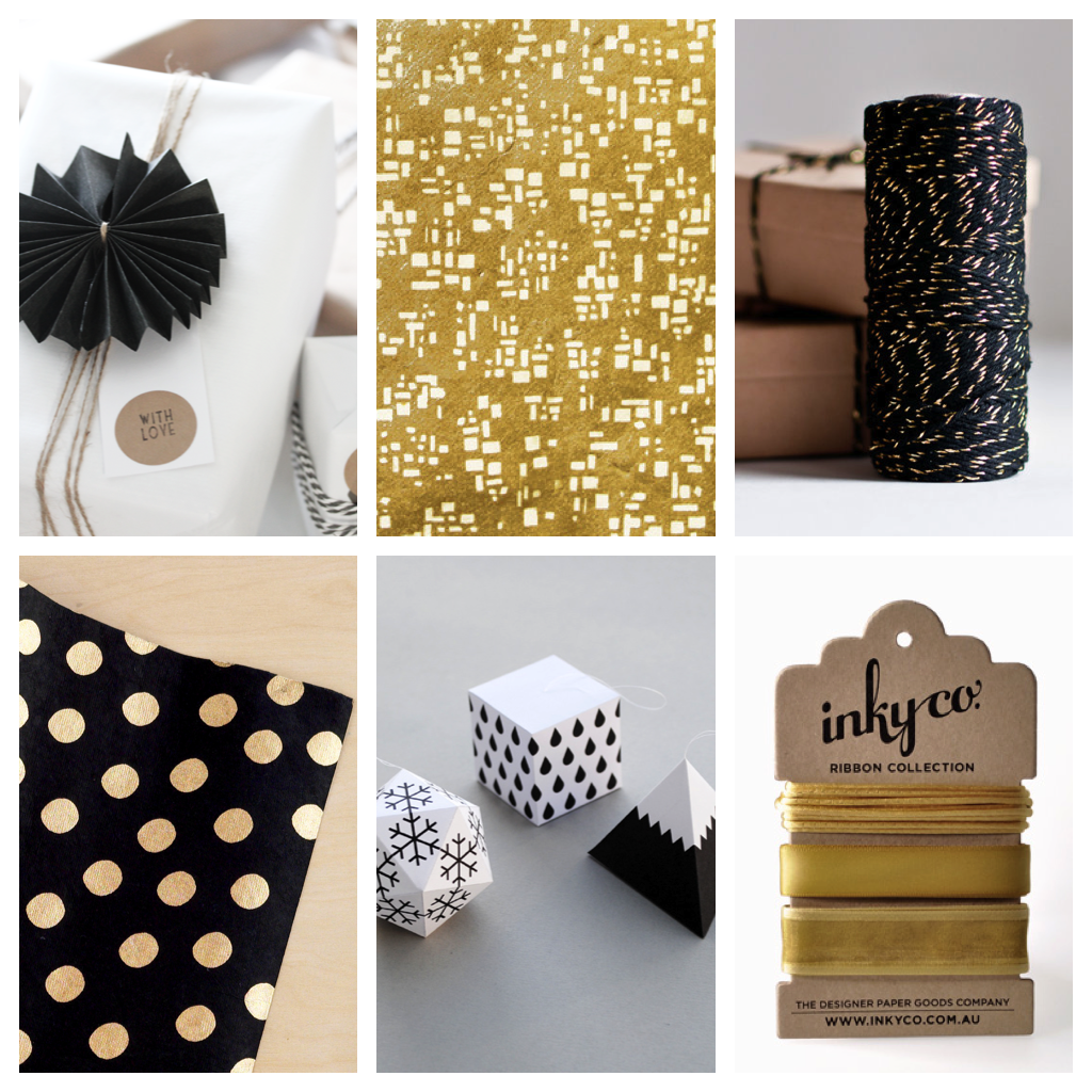 Black:White:Gold Modern Xmas Wrapping 4