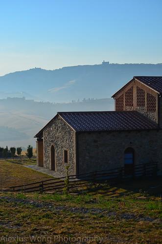 Volterra over Villa Irene