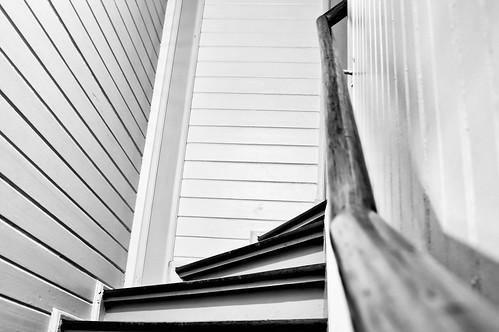 Escada em casa de madeira/RS
