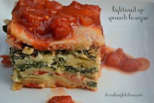 lightened up spinach lasagna