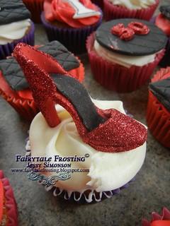 50th Shoe Cupcake
