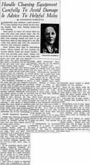 Kay Middleton Cleaning tips for men Trib Nov 9 1943