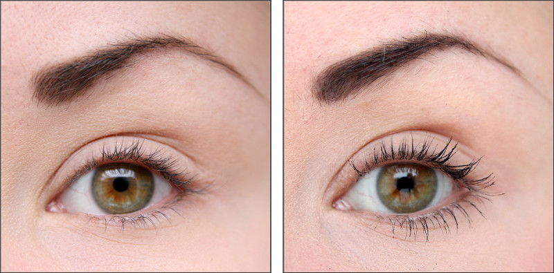 Lily Lolo Lash alert natural mascara swatch