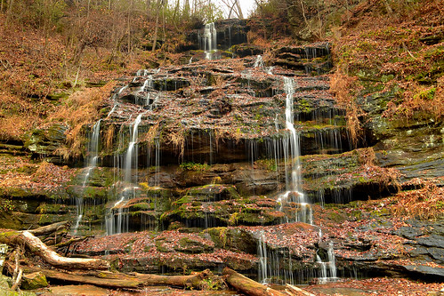 rain station waterfall rocks cove southcarolina walhalla cascade slippery