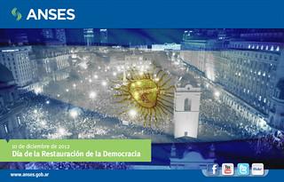 10 de diciembre. Día de la Restauración de la Democracia
