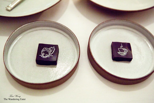 Hazelnut and espresso chocolates