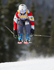 Danielle Sundquist at the inaugural Nakiska ski cross World Cup.