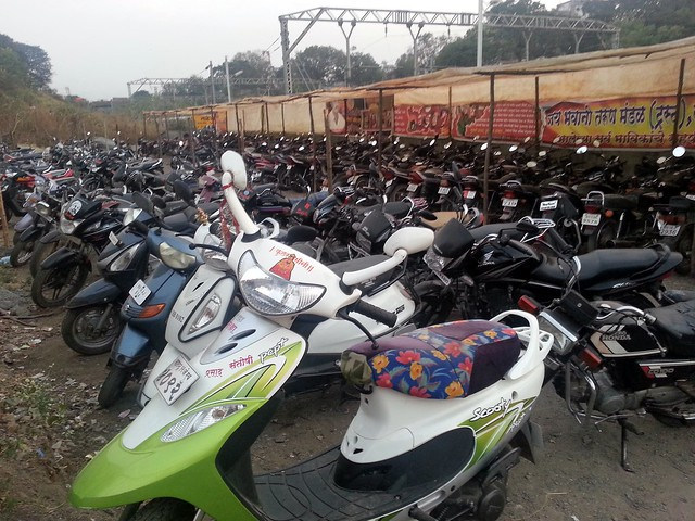 2 Wheeler Stand at Talegaon Railway Station