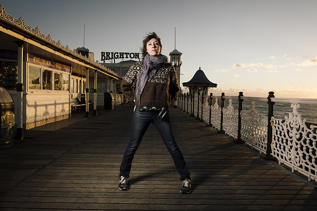 Portrait of singer Martha Wainwright on Brighton Pier