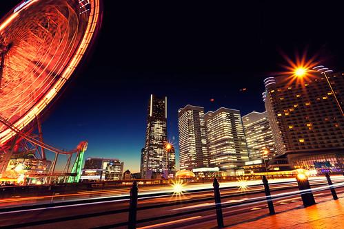 city building japan night canon eos lights cityscape 日本 yokohama kanagawa 夜景 locus 神奈川県 みなとみらい canonef1740f4lusm 横浜市 5dmarkii chibitomu