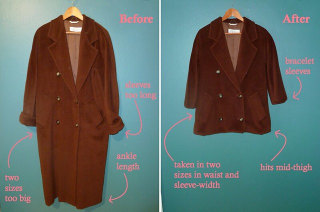 coat - before & after