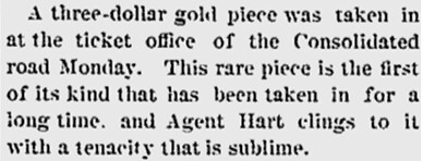 Three-Dollar Gold Piece article
