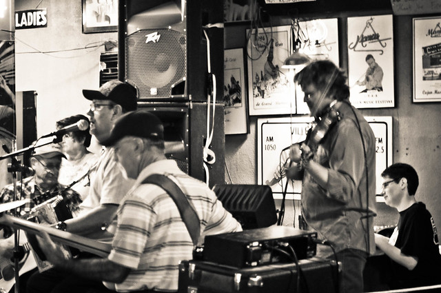 A one-of a kind experience! Live Cajun music in the heart of Cajun country, at Fred's Lounge in Mamou, LA | PopArtichoke