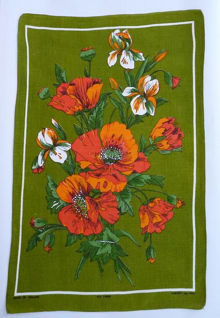 Vintage Lamont Irish Linen Tea Towel
