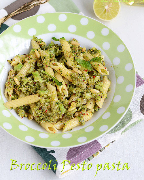broccoli+pesto+pasta