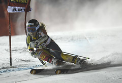 Marie-Pier Préfontaine on her way to a 25th-place finish in Are, Sweden.