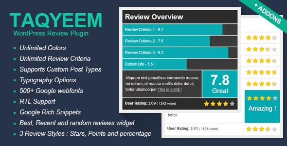 Taqyeem v2.2.1 - WordPress Review Plugin
