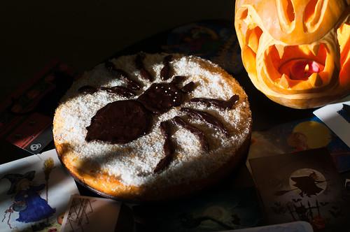 Pumpkin Spider-Cake