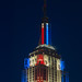 Empire State Building LED live election results Obama Romney Spire Close-up