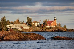 """Copper Country"" Eagle Harbor Lighthouse Sunrise , Eagle Harbor, Michigan by Michigan Nut"
