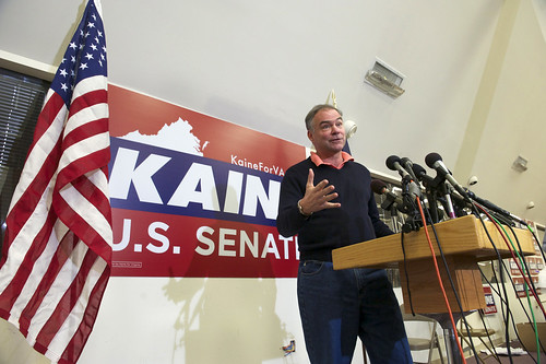 Senator-Elect Tim Kaine Holds Press Conference Wednesday Afternoon at Campaign Headquarters