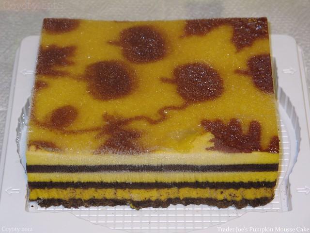Trader Joe's Pumpkin Mousse Cake (frozen)