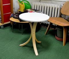 three-legged table