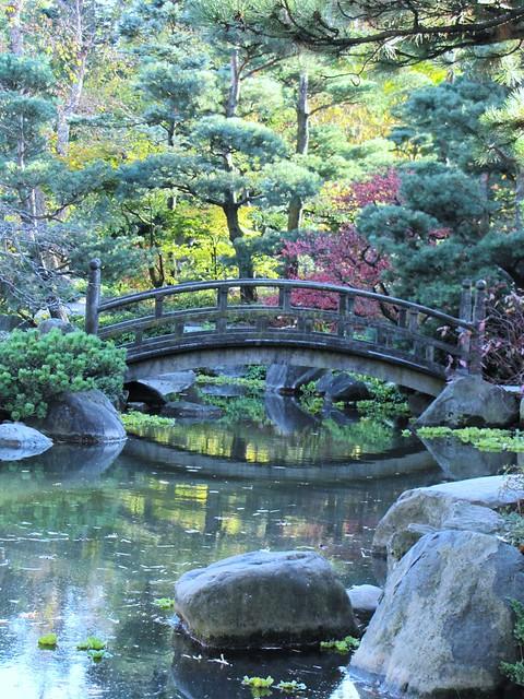 Japanese garden bridge flickr photo sharing for Japanese garden pond bridge