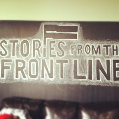 Chalkboard mural for documentary screening