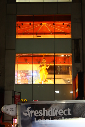 Creepy Ronald McDonald up on the second floor watching your every move