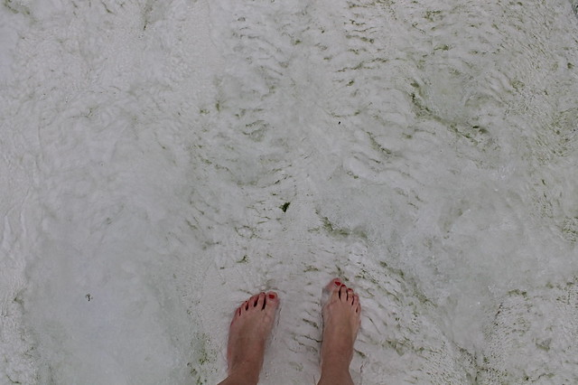 Feet in the water at Pamukkale