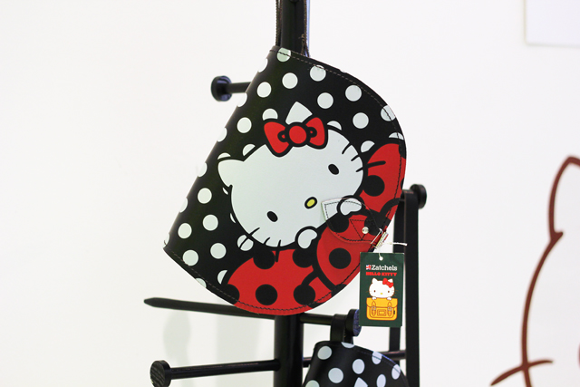 Hello Kitty Zatchels satchel collaboration red and black