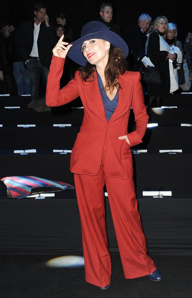 6 Paola Maugeri @ Roberto Cavalli Menswear AW1213 fashion show 14-01-2012 Milan