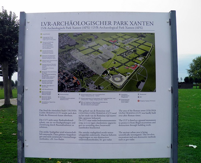 Map of the archaeological site, Xanten, Germany