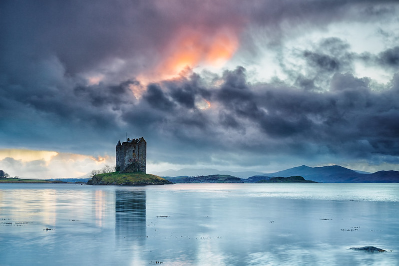 Castle Stalker At Dusk