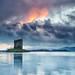 Castle Stalker At Dusk by mark_mullen