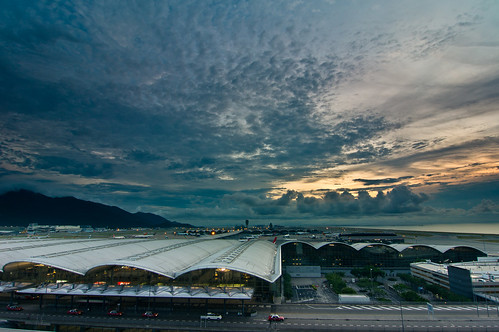 city sunset clouds hongkong tokina1224mm hongkonginternationalairport sonynex5n