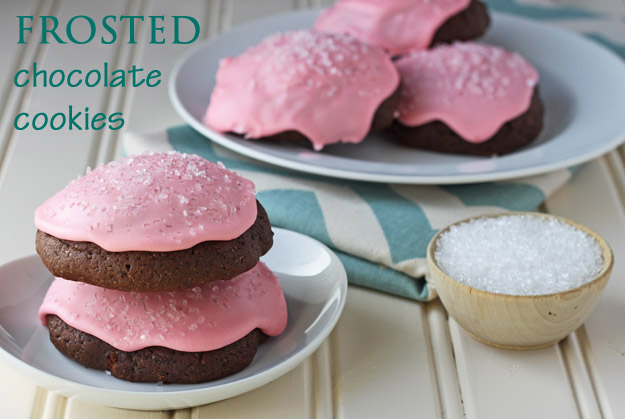 Frosted Chocolate Cookies recipe from Dessert for Two