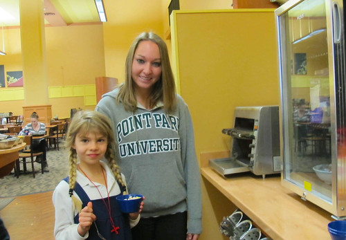 Point Park Education Majors Work with Students from Three Hierarchs Eastern Orthodox School