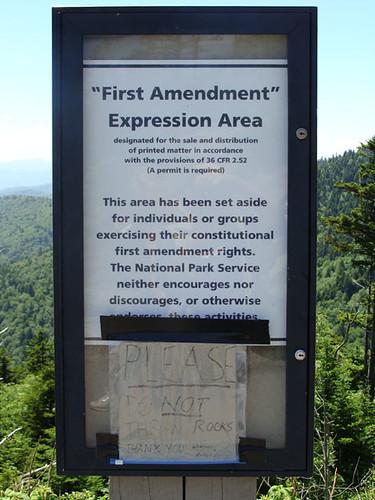 """Smoky Mountains """"Strange"""" Sign"""