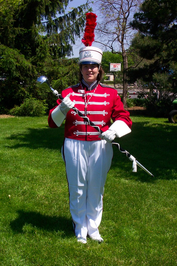 Drum Major of the Palatine High School Marching Band